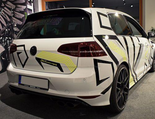 Designfolierung Golf7R Schmitt Autopflege